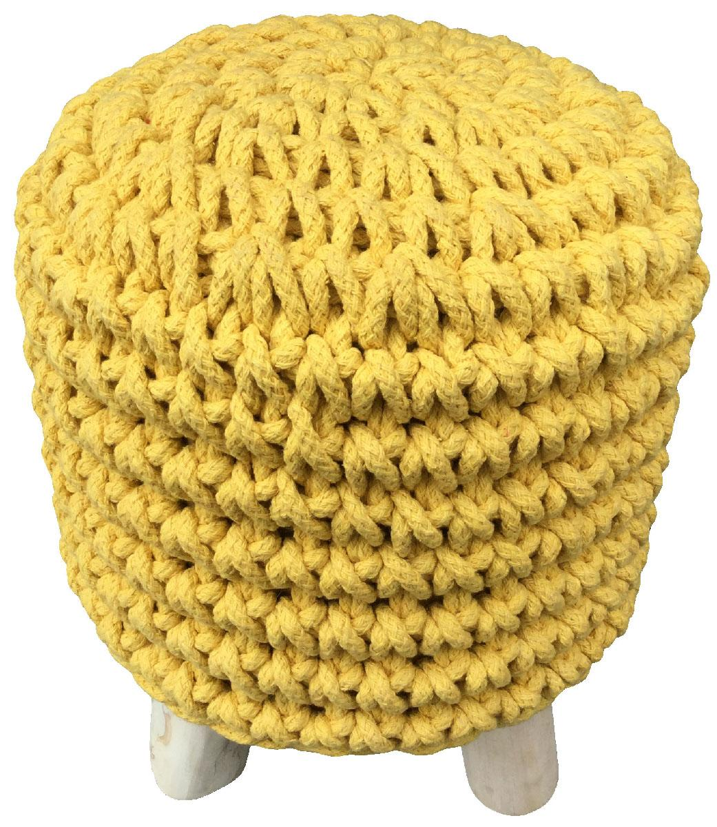 Buy Small Round Stool Yellow Wholesale Home Decor